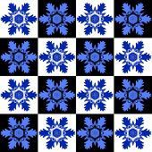 Seamless pattern with a snowflakes