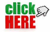 Click here  and cursor (clipping path included)