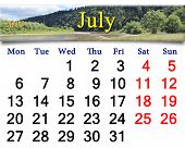 Calendar For June Of 2015 With Speed River