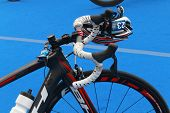 Jose Silvas Prepared Bicycle For Triathlon