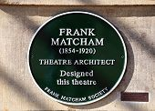 Frank Matcham Architect Sign.