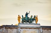 Sculpture Of The Chariot On Top Of The Arc De Triomphe Du Carrousel