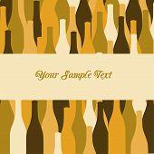 vector set of wine or vinegar bottles silhouettes
