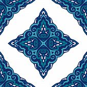 Seamless abstract tiled pattern vector vintage