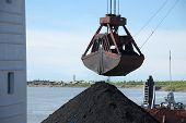Crane Grab With Coal