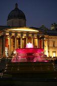 English National Gallery at night