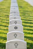 Arlington National Cemetery gravestones in autumn - Washington DC, USA