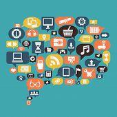 Concept Of Content Social Media