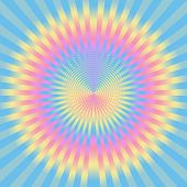 Abstract rays in pastel colors