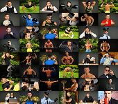 Photo mosaic of people