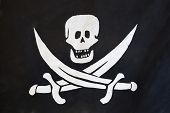 The image of a pirate flag