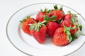 Ripe Strawberries In A Plate