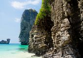 High Rocks Blue Seascape
