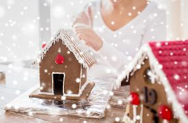 stock photo of gingerbread house  - cooking - JPG