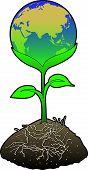 stock photo of eastern hemisphere  - concept art depicting environmental theme  - JPG