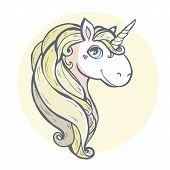 pic of unicorn  - Vector illustration - JPG