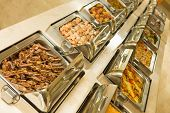 pic of buffet lunch  - The food buffet in restaurant - JPG