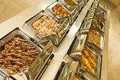 image of buffet lunch  - The food buffet in restaurant - JPG