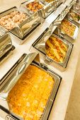stock photo of buffet lunch  - The food buffet in restaurant - JPG