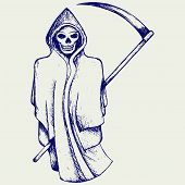 picture of grim-reaper  - Hand inked grim reaper - JPG