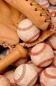Baseballs Bat And Glove