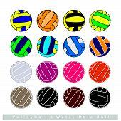 image of volleyball  - Illustration Set of Multi - JPG