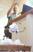 Frustrated Man Throwing Paper