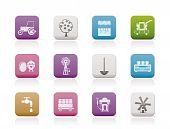 farming industry and farming tools icons