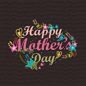 foto of happy day  - Stylish text Happy Mother - JPG