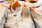 picture of catfish  - close up of raw dried catfish in sunlight - JPG
