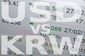 pic of won  - US dollar versus South Korean won  - JPG