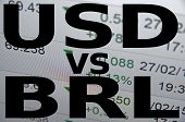 foto of brazilian money  - US dollar versus Brazilian real  - JPG