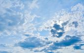 stock photo of thunder-storm  - Background of dark clouds before a thunder storm  - JPG