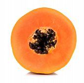 pic of pawpaw  - yellow papaya isolated on a white background - JPG