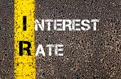 picture of irs  - Business Acronym IR - Interest Rate.