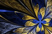 stock photo of fractals  - Fractal flower or butterfly in stained - JPG