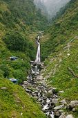 picture of lamas  - Bhagsu Waterfall near McLeodGanj the residence town of Dalai Lama - JPG