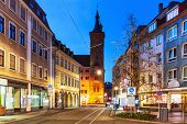 foto of bavaria  - Scenic evening view of street architecture in the Old Town of Wurzburg - JPG