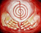 stock photo of metaphysical  - Reiki symbol Choku - JPG