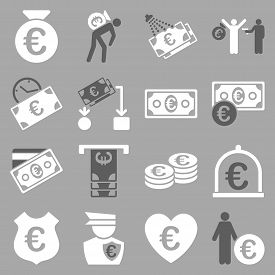 picture of streetwalkers  - Euro banking business and service tools icons - JPG