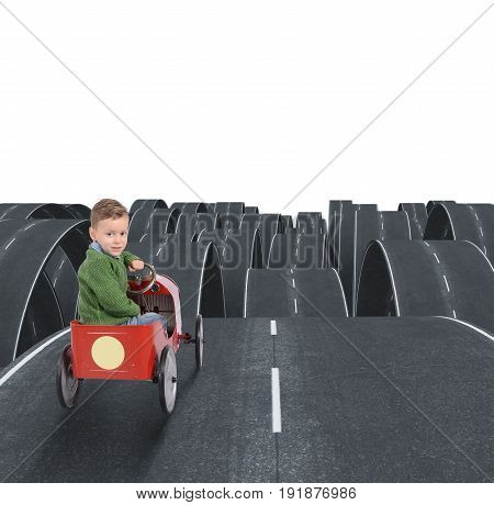 Difficult future of a kid with all disjointed streets