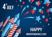 4Th Of July,  Usa    Independence  Day Background. poster