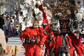 picture of mummer  - Bulgaria mummers parade 2009 - JPG