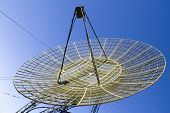 stock photo of chukotka  - antenna of abandoned station of distant space communication - JPG