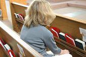 Woman Attending Church