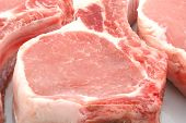 pic of pork chop  - three pork chops close up - JPG