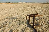 Rusty Iron On A Desolate Beach