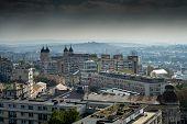 Panoramic view over a european town - Iasi, Romania