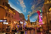 LAS VEGAS - MAY 2: Miracle Mile Shops in the Aladdin hotel stylized as Arab town, decor showing the