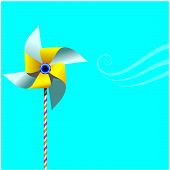Pinwheel On Blue